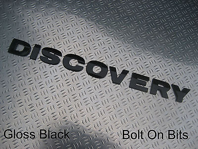 Raised 3D Lettering Badge DISCOVERY Decal Logo GLOSS BLACK Discovery 1 2 3 4