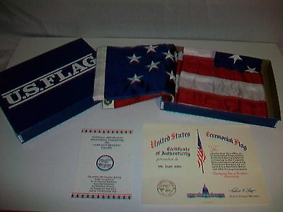 United States Ceremonial Flag Commissioned by President Ronald Reagan