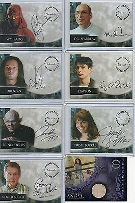 Angel Autograph & Pieceworks Card Selection NM Inkworks 2001-4