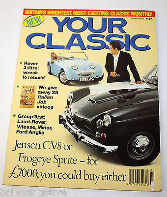 Your Classic Car Magazine Jan 1990  - Rover 3 Litre, Jensen CV8, Frogeye Sprite