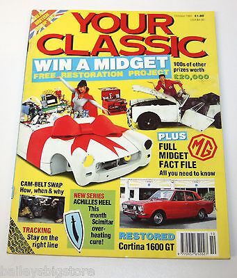 Your Classic Car Magazine Oct 1991  - MG Midget, Ford Cortina 1600GT