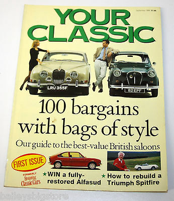 Your Classic Car Magazine Sept 1989  - 100 best British Saloon Cars