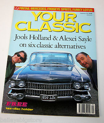 Your Classic Car Magazine Sept 1990  - Fintail Mercedes, Frogeye Sprite, Lotus