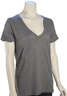 Hurley Solid Perfect V-Neck Women's T-Shirt - Carbon Heather - New