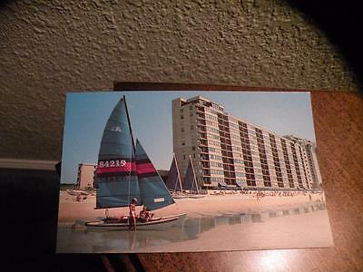 SANDS BEACH CLUB HOTEL CHROME Postcard Myrtle Beach SC