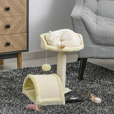PawHut Cat Tree Condo Furniture Scratching Post Scratcher Pet Bed House Play Toy