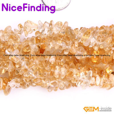 """Natural Freeform Yellow Citrine Chips Stone Beads For Jewelry Making Strand 34"""""""