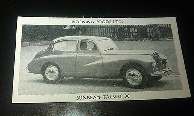 1953 SUNBEAM TALBOT 90  Orig Cereal Trading Card
