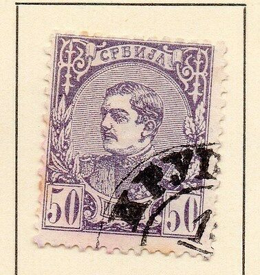 Serbia 1880 Early Issue Fine Used 50p. 147523