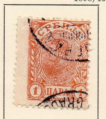 Serbia 1898-1902 Early Issue Fine Used 5p. 147539