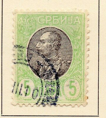 Serbia 1905 Early Issue Fine Used 5p. 147560