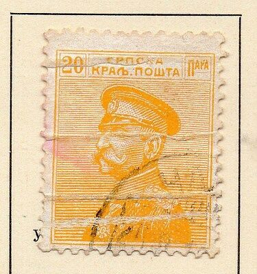 Serbia 1911 Early Issue Fine Used 20p. 147575