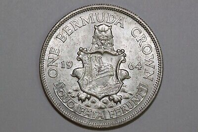 Great Value 1964 One Bermuda Crown That Grades About Uncirculated (BERM110-A)