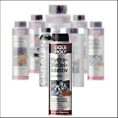 LIQUI MOLY Hydro plunger additive cleanser Motor noise Oil channels ventilfueh