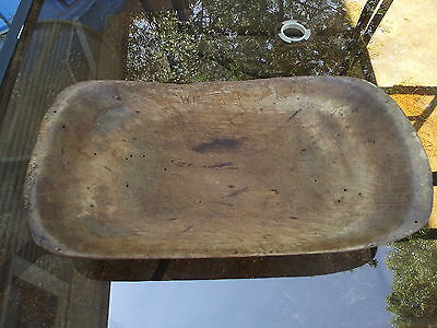 Antique Primtive Wooden Trencher Wood Dough Bowl