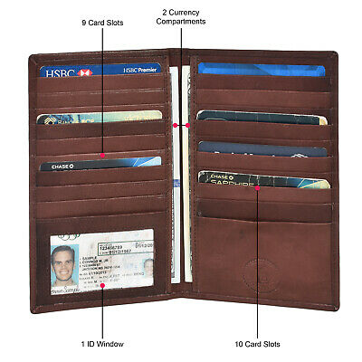 Credit Card Holder Wallet New Dark Brown Very Rare Style