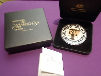 2011 Australia Presidents Cup Selectively Gold Plated 5oz Silver Proof Coin RAM