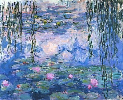 Water Lilies, 1919  by Claude Monet Giclee Fine Art Canvas Print