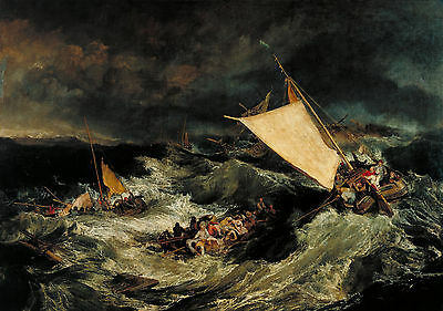 The Shipwreck by J. M. W. Turner Fine Art Giclee Canvas Print