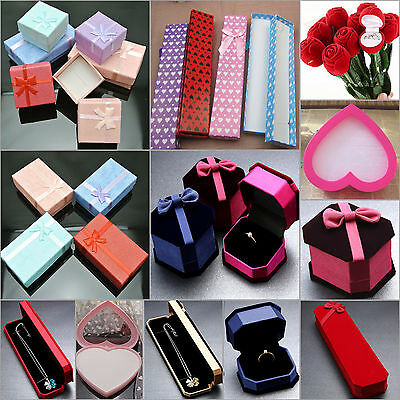 NT Paper Square Package Bowknot Jewelry Necklace Bracelet Present Gift Box Case