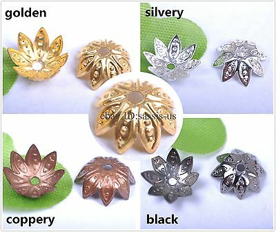 100/1000s 10mm silver plated metal bead flower cap diy jewelry Finding 3003