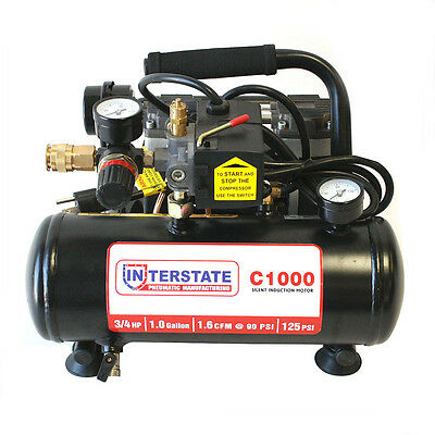 3/4 HP 1 Gallon Electric Air Compressor, 125 PSI - C1000