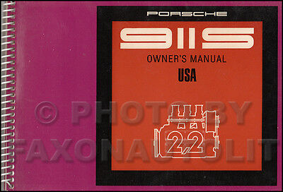 NOS 1970 Porsche 911S Owners Manual USA OEM Original 911 S Owner User Guide Book