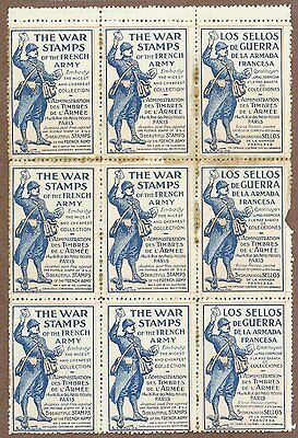 The War Stamps Of The French Army, Ad For French WWI Stamps, c. 1920