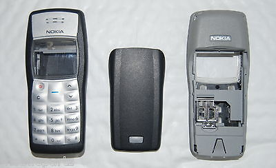 Genuine Original Black Nokia 1100 Front Fascia & Battery Cover - Graded Product