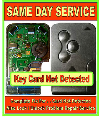 "Renault Scenic & Megane Key Card Repairs "" Card Not Detected "" Over 1000 SOLD !!"