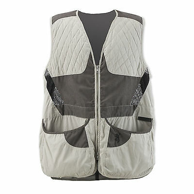 Mens NWT Browning Summit Shooting Vest Gray Charcoal Lightweight Sizes S-3XL