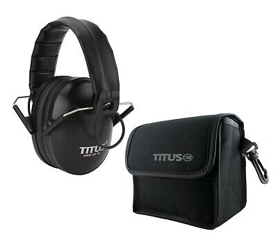 Titus© Electronic Folding Earmuffs Noise Cancelling Hearing Protection With Case