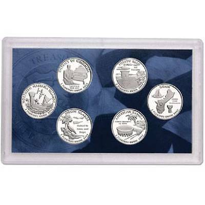 2009-S  CLAD US TERRITORIES  PROOF QUARTER SET  ( 6 coins in box and coa )