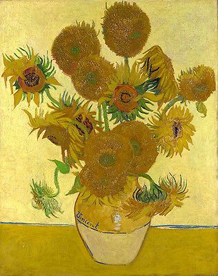 Vincent Van Gogh Still Life  Vase with Fifteen Sunflowers 1888 Vintage Print
