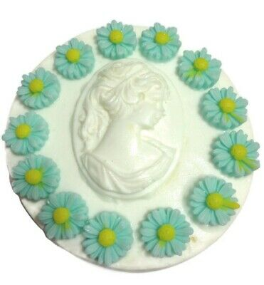 FLORAL CAMEO SILICONE MOULD For Soap, candles, Flexible, High Quality