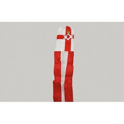 NORTHERN IRELAND FLAG WINDSOCK 5FT 150cm - Banner For Telescopic Pole