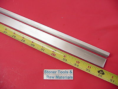 "2 Pieces 1/4"" X 3/4"" ALUMINUM 6061 FLAT BAR 36"" long Solid T6 .25 Mill Stock"