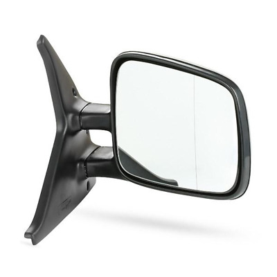 Vw T4 Transporter 1990-2003 Manual Black Door Wing Mirror Drivers Side Right O/s