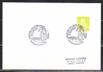 Spain 1987 post card Cycling Vuelta a Espana Bicycle race