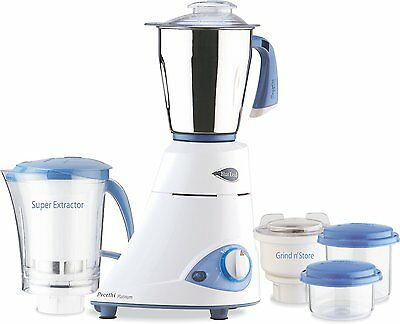 Preethi Blue Leaf Platinum Indian Mixie Mixer Grinder