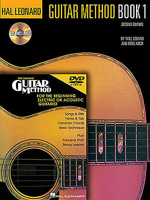 Hal Leonard Guitar Method: Book, CD And DVD Pack Guitar Sheet Music, CD, DVD (Re