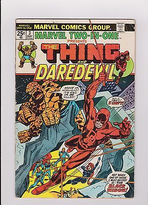 """1978 Marvel Two In One """"The Thing & Daredevil"""" Comic Book #3"""