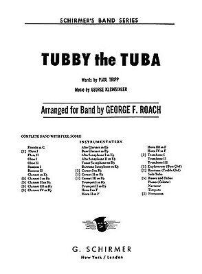 George Kleinsinger: Tubby The Tuba (Parts) Big Band & Concert Band Sheet Music P
