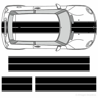 Mini Cooper Clubman Countryman Coupe Dual Rally Racing Stripes 3M Stripe Decals