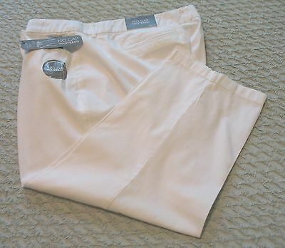 Womens JM Collection White Tummy Slimming Capris/Cropped Pants, 22W, NWT
