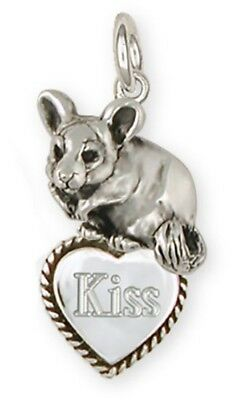 Personalized Silver Chinchilla Pendant Jewelry - cl5tc