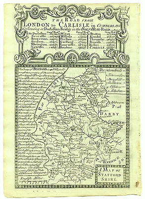 1720 Bowen Map of Carlisle Double Sided with Lincoln Road Map Verso