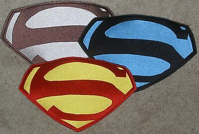 """7.6"""" x 11"""" Embroidered George Reeves Superman Chest Logo Patch: color choice [5]"""