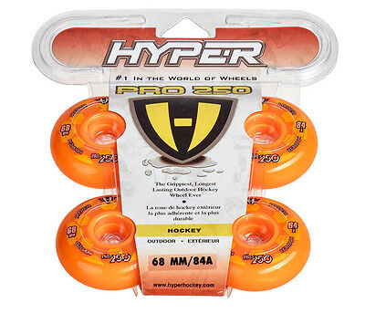 Hyper Outdoor- Rollen für Inlineskates Pro 250 Orange 72500, 84A -68 72 76 80 mm