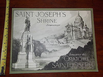 Old Vintage Booklet Saint Josephs Shrine Illustrated